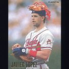 1996 Fleer Baseball #298 Javier Lopez - Atlanta Braves