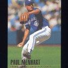 1996 Fleer Baseball #279 Paul Menhart - Toronto Blue Jays