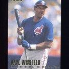 1996 Fleer Baseball #104 Dave Winfield - Cleveland Indians