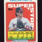 1990 Topps Sticker Backs Baseball #55 Carlton Fisk - Chicago White Sox