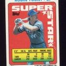 1990 Topps Sticker Backs Baseball #54 Robin Yount - Milwaukee Brewers NM-M