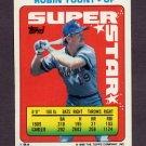 1990 Topps Sticker Backs Baseball #54 Robin Yount - Milwaukee Brewers G