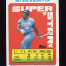 1990 Topps Sticker Backs Baseball #51 Bo Jackson - Kansas City Royals