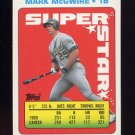 1990 Topps Sticker Backs Baseball #36 Mark McGwire - Oakland Athletics