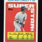1990 Topps Sticker Backs Baseball #34 Don Mattingly - New York Yankees