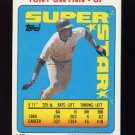 1990 Topps Sticker Backs Baseball #15 Tony Gwynn - San Diego Padres