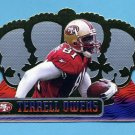 1999 Crown Royale Football #122 Terrell Owens - San Francisco 49ers
