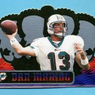 1999 Crown Royale Football #075 Dan Marino - Miami Dolphins