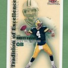 2000 Fleer Tradition Football Tradition Of Excellence #1 Brett Favre - Green Bay Packers