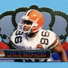 1999 Crown Royale Football #036 Leslie Shepherd - Cleveland Browns