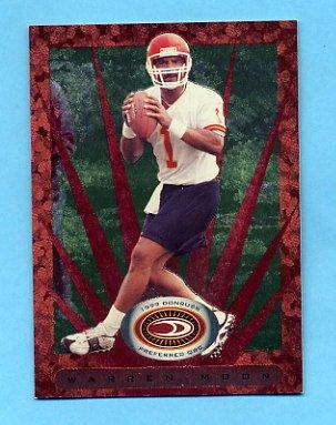 1999 Donruss Preferred QBC Football #034 Warren Moon - Kansas City Chiefs