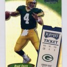 1999 Playoff Contenders SSD Football #194 Brett Favre - Green Bay Packers