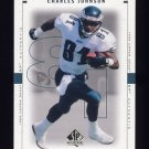 1999 SP Authentic Football #066 Charles Johnson - Philadelphia Eagles
