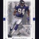1999 SP Authentic Football #047 Randy Moss - Minnesota Vikings