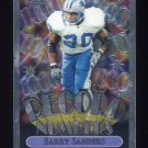 1999 Topps Chrome Record Numbers #RN04 Barry Sanders - Detroit Lions
