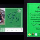 1998 SP Authentic Player's Ink Green #TS Takeo Spikes - Cincinnati Bengals AUTO
