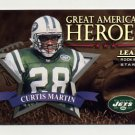1998 Leaf Rookies And Stars Great American Heroes #14 Curtis Martin - Jets /2500