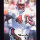 1998 Collector's Edge First Place Football #231 Fred Beasley RC - San Francisco 49ers