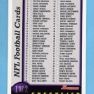 1998 Bowman Football #NNO Checklist 1 of 2