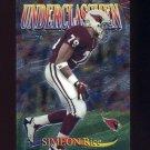 1997 Topps Chrome Underclassmen #U3 Simeon Rice - Arizona Cardinals