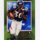 1997 E-X2000 Football #38 Terrell Davis - Denver Broncos