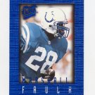 1996 Ultra Sensations Blue #045 Marshall Faulk - Indianapolis Colts
