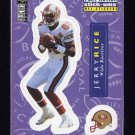 1996 Collector's Choice Update Stick-Ums #S30 Jerry Rice - San Francisco 49ers