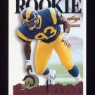 1995 Summit Football #156 Kevin Carter RC - St. Louis Rams
