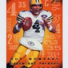 1995 Flair Hot Numbers #06 Brett Favre - Green Bay Packers