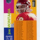 1995 Collector's Choice Player's Club #348 Joe Montana - Kansas City Chiefs