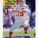 1995 Collector's Choice Football #034 Joe Montana - Kansas City Chiefs