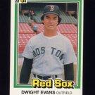 1981 Donruss Baseball #458 Dwight Evans - Boston Red Sox