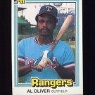 1981 Donruss Baseball #387 Al Oliver - Texas Rangers