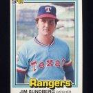 1981 Donruss Baseball #385 Jim Sundberg - Texas Rangers
