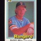 1981 Donruss Baseball #145 Buddy Bell - Texas Rangers