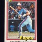 1981 Donruss Baseball #090 Gary Carter - Montreal Expos