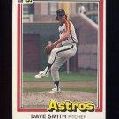 1981 Donruss Baseball #023A Dave Smith - Houston Astros