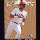 1995 SP Platinum Power #PP11 Juan Gonzalez - Texas Rangers