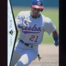 1995 SP Silver #035 Sammy Sosa - Chicago Cubs