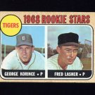 1968 Topps Baseball #447 Rookie Stars George Korince / Fred Lasher RC - Detroit Tigers