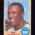 1968 Topps Baseball #441 Alex Johnson - Cincinnati Reds