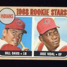 1968 Topps Baseball #432 Rookie Stars Bill Davis / Jose Vidal - Cleveland Indians