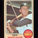 1968 Topps Baseball #383 Steve Whitaker - New York Yankees