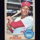 1968 Topps Baseball #090 Vada Pinson - Cincinnati Reds