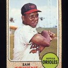 1968 Topps Baseball #082 Sam Bowens - Baltimore Orioles