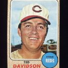 1968 Topps Baseball #048 Ted Davidson - Cincinnati Reds