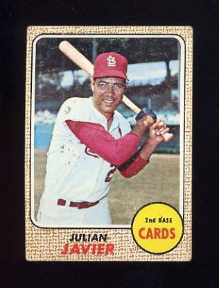 1968 Topps Baseball #025 Julian Javier - St. Louis Cardinals