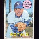 1969 Topps Baseball #647 Dave Wickersham - Kansas City Royals