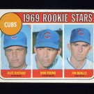1969 Topps Baseball #602 Rookie Stars Alec Distaso / Don Young / Jim Qualls - Chicago Cubs