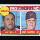 1969 Topps Baseball #324 Rookie Stars Les Cain RC / Dave Campbell RC - Detroit Tigers
